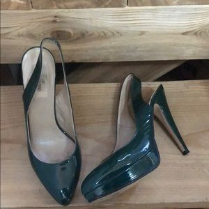 Green Valentino Patent Leather Heels
